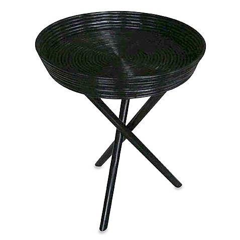 Tripod Tray Table in Rustic Black