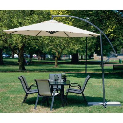 Coolaroo® 10' Cantilever Umbrella - Smoke