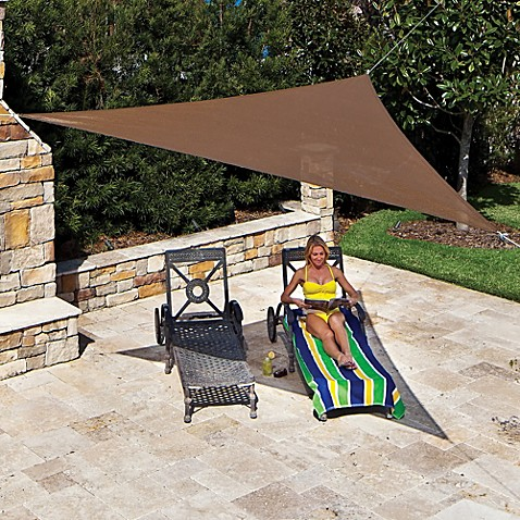 Coolaroo® 11' 10-Inch Triangle Shade Sail in Mocha