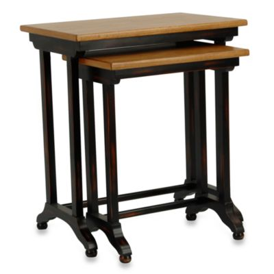 Safavieh American Home Annie Black/Oak Nesting Tables