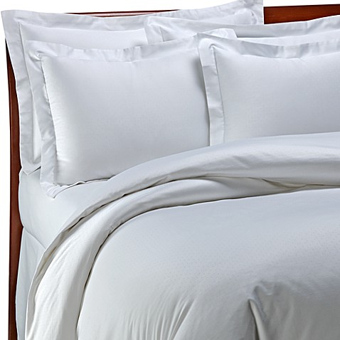 Palais Royale™ Hotel Collection Duvet Cover in White Dot