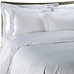 Palais Royale™ Hotel Collection Duvet Cover in White Stripe