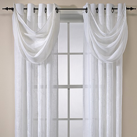 Cosmo Embroidered Grommet Window Curtain Panels, 100% Linen