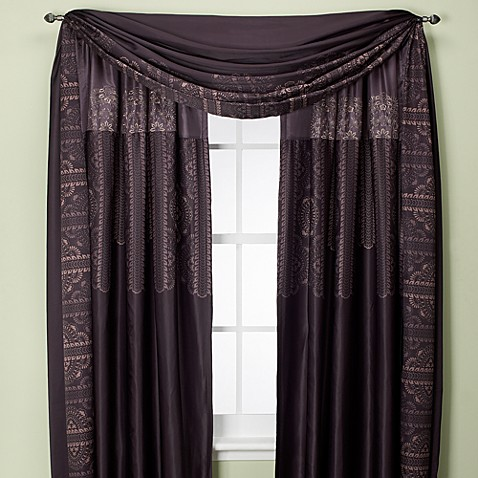 Bohemia 108-Inch Rod Pocket/Back Tab Window Panel- Purple