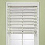 Flat Bamboo Window Blind in White