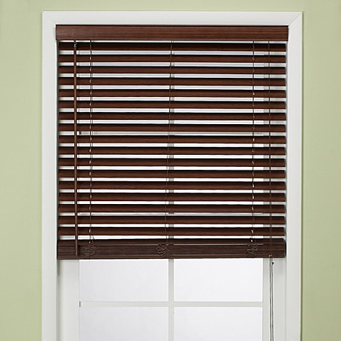"Flat Bamboo 29"" W x 64"" L Window Blind - Chesnut"