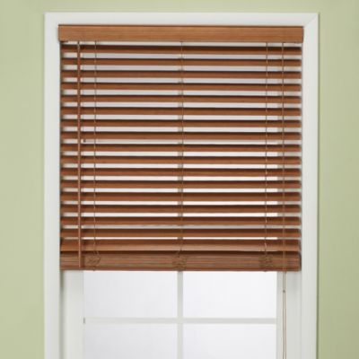 Flat Bamboo 48-Inch W x 64-Inch L  Window Blind in Pecan