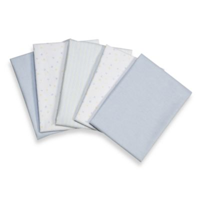 Blue Receiving Blankets (Set of 5)
