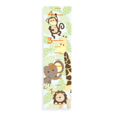 WallPops!® Wall DecalSingrowth Chart in Jungle Animals