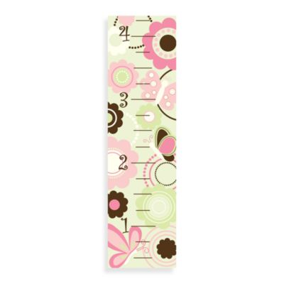 WallPops!® Wall DecalSingrowth Chart in Flowers and Butterflies