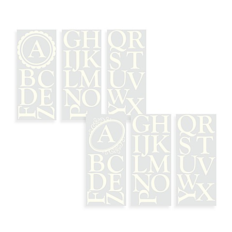 WallPops!® Wall Decals - Monogram Letters