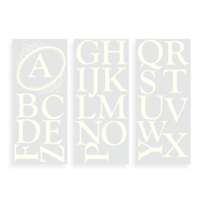 WallPops!® Wall Decals in Monogram Letters Scroll in Cream
