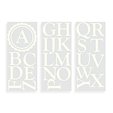 WallPops!® Wall Decals in Monogram Letters Scalloped in Cream