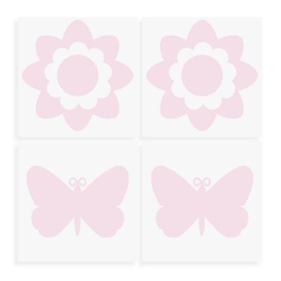 WallPops!® Flowers and Butterflies Wall Decals in Pink