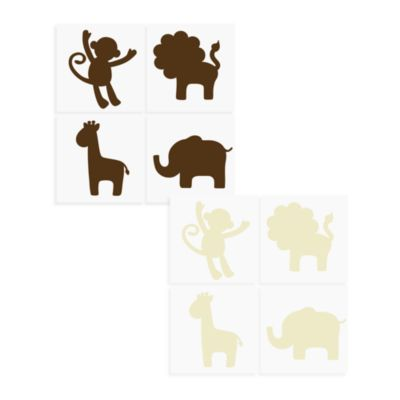 WallPops!® Wall Decals Jungle Animals in Ivory
