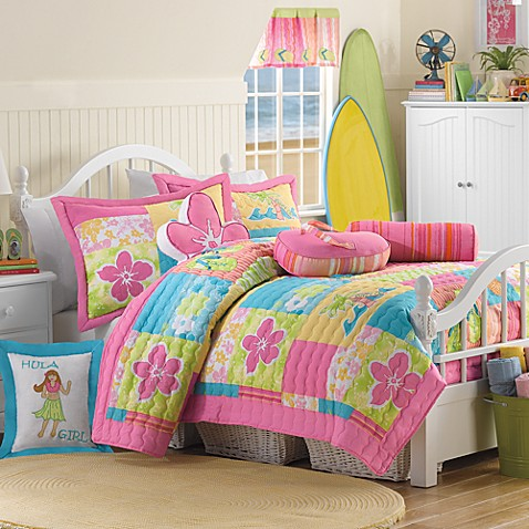 Hula Girl Quilt Set, 100% Cotton