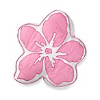 Hula Girl Flower Toss Pillow