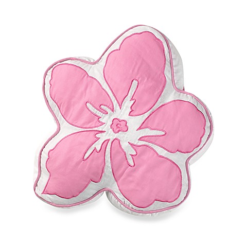 Hula Girl Flower Throw Pillow