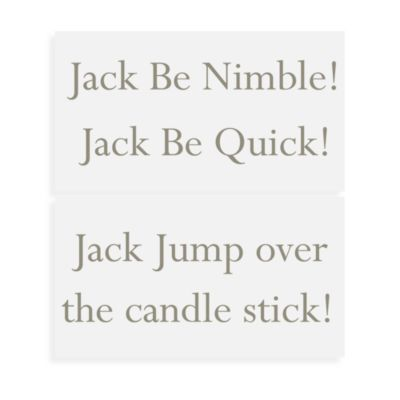 WallPops!® Wall Decals in Nursery Rhymes in Jack Be Nimble