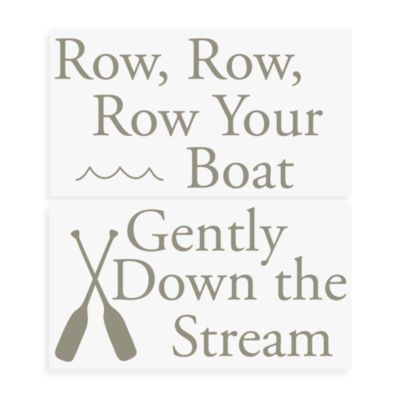 WallPops!® Wall Decals in Nursery Rhymes in Row, Row, Row Your Boat