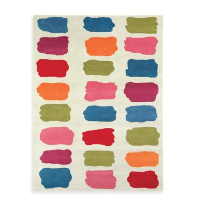 Fantasia 3-Foot x 5-Foot Rug in Multi-Colored with Beige Background