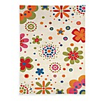 Fantasia 3-Foot x 5-Foot Rug in Floral with Beige Background