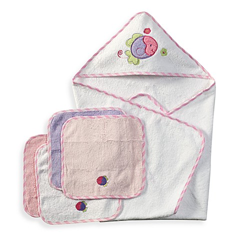 Spasilk®  Hooded Towel with Matching Washcloths - Fish