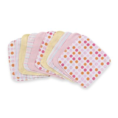 10-Pack Washcloths in Pink