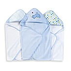 Spasilk Hooded Towels (Pack of 3) - Whale