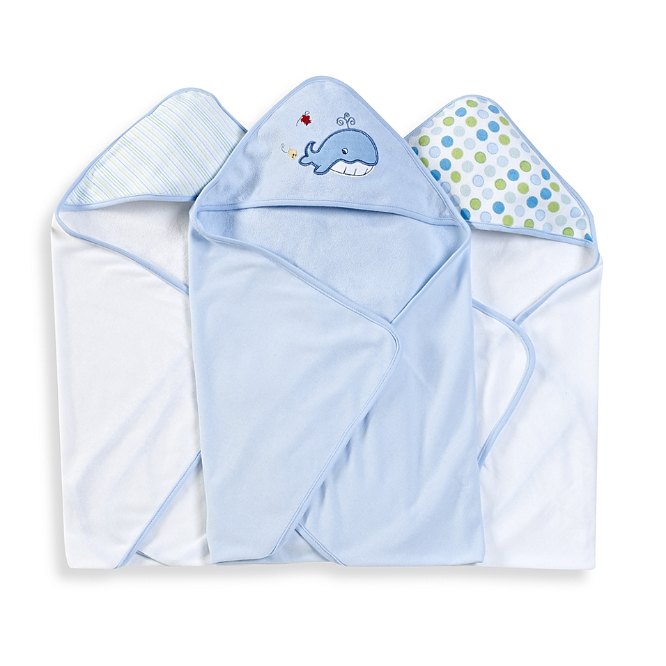 Spasilk® Hooded Towels (Pack of 3) - Whale - buybuyBaby.com
