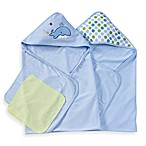 Spasilk Hooded Towels with Matching Washcloths - Whale