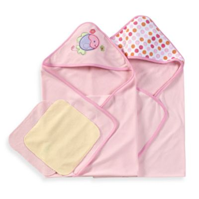 Spasilk® Hooded Towels with Matching Washcloths - Fish