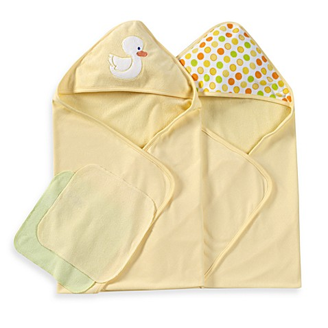 Spasilk® Hooded Towels with Matching Washcloths - Duck