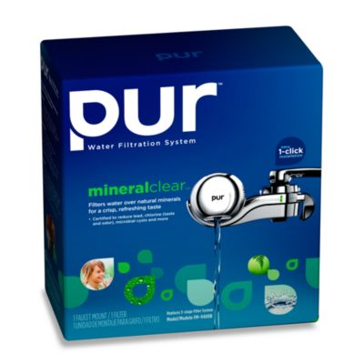 pur® Horizontal Chrome Faucet Mount with LED Indicator and Three-Stage Filtration