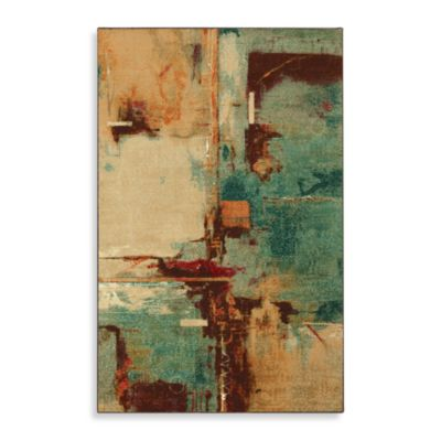 Mohawk Home Select Strata Fusion 5-Foot x 8-Foot Rug in Aqua