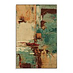 Mohawk Home Select Strata Fusion Rectangle Rug in Aqua
