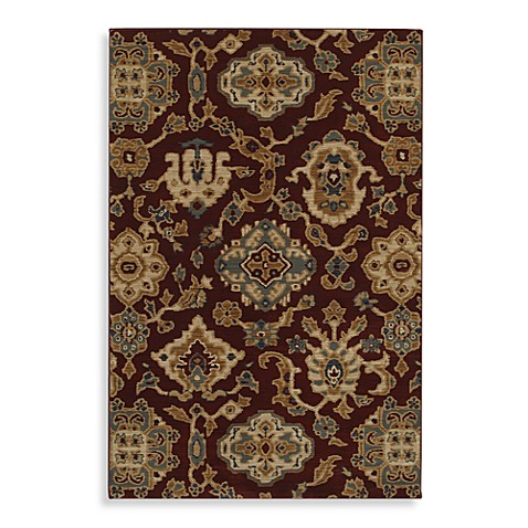 Mohawk Home Select Versailles Costa Rica 5-Foot 3-Inch x 7-Foot 10-Inch Rug in Red
