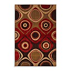 Mohawk Home Select Kaleidoscope Danger Zone Rug in Red