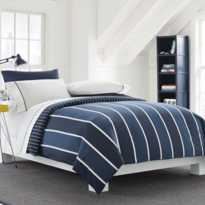 Nautica® Knot's Bay Reversible Twin Duvet Cover Set in Navy