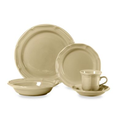 Mikasa® French Countryside Tan 5-Piece Dinnerware Set