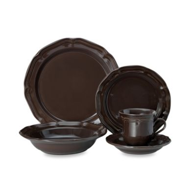 Mikasa® French Countryside 5-Piece Dinnerware Set in Chocolate