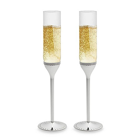 Vera Wang Wedgwood® Grosgrain Toasting Flutes (Set of 2)