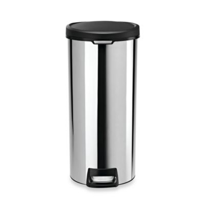 simplehuman® 30-Liter Round Stainless Steel Step Trash Can