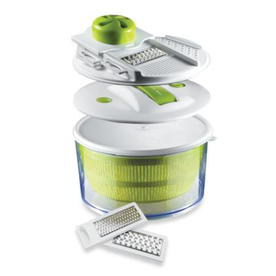 Sharper Image® 4-in-1 Salad Spinner Mandoline Slicer