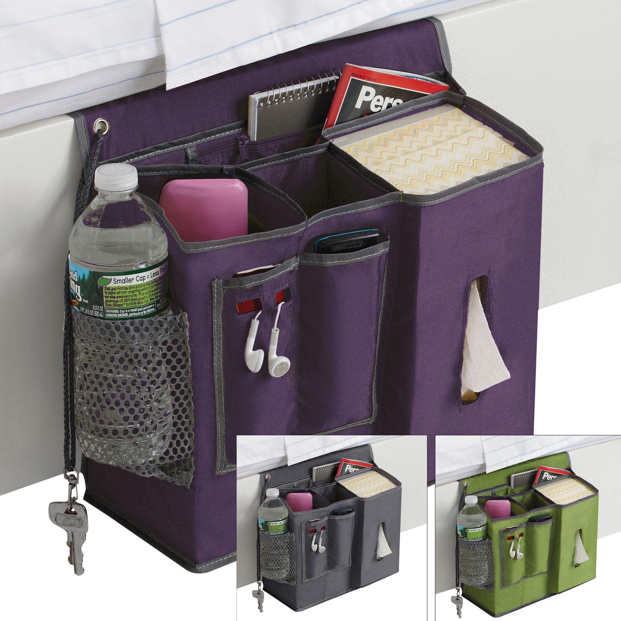 Bedside Pocket Caddy Polyester Bedside Caddy