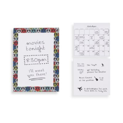 WallPops!® Peace Sign Dry Erase Memo Board and Calendar Set