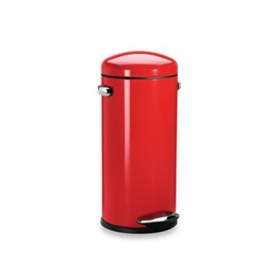 simplehuman® 30-Liter Red Retro Trash Step Trash Can