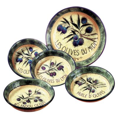 Certified International Garden Olive 5-Piece Pasta Set