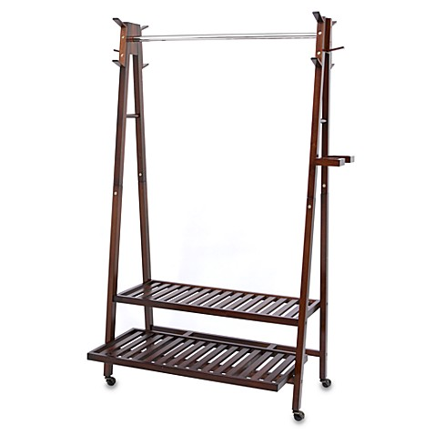 Solid Wood A-Frame Garment Rack
