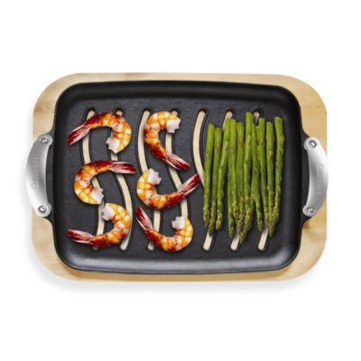 Cuisinart® Pre-Seasoned Cast Iron Grilling Platter Set